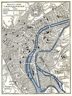 Liege city map 1895