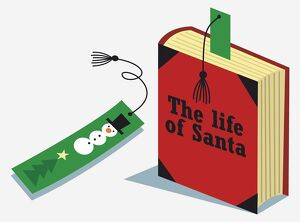 'The Life Of Santa' book and snowman bookmark.
