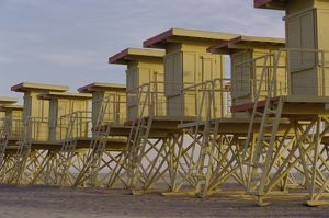 Lifeguard Stations on a Beach