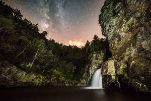 Linnville Falls and the milky way