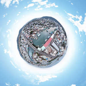 Little Planet View of Duong Dong Town, Phu Quoc Island, Vietnam