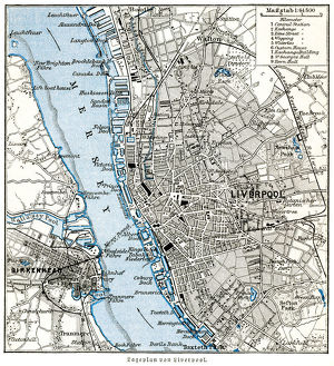 Liverpool city map 1895