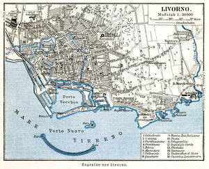 Livorno city map 1895