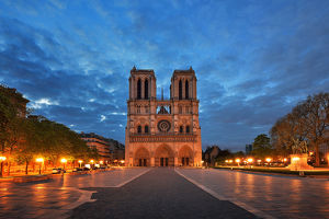 global landscape views/fred concha photography/lluminated notre dame paris