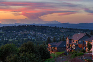 Luxury Residential Estate in Happy Valley Oregon at Sunset