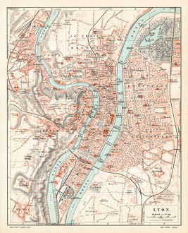 Lyon city map 1895