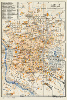 Madrid city map 1895