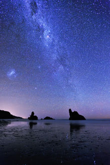 Milky Way over Motukiekie Beach