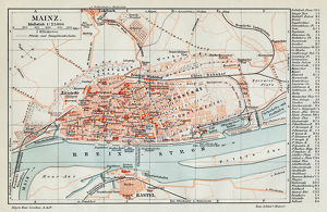 Mainz city map 1895