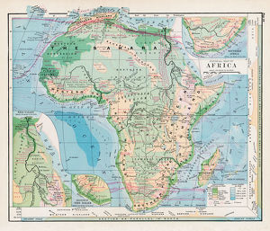 Map of Africa 1877