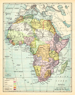 Map of Africa 1895