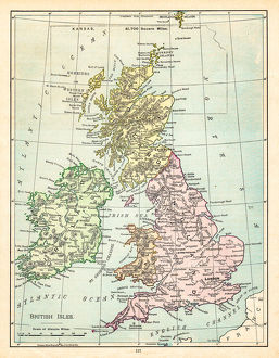 Map of the British Isles 1895