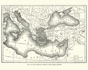 Map of the Byzantine Empire in the 9th Century