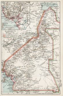 Map of Camerun 1900