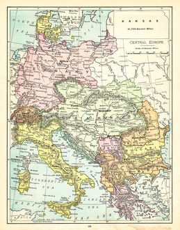 Map of Central Europe 1895