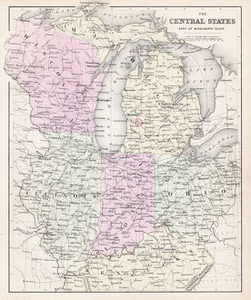 Map of Central states 1877