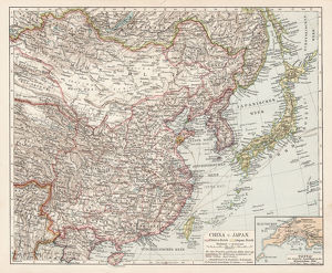 Map of China and Japan 1900