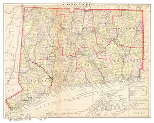 Map of Connecticut 1877