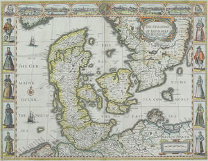 Map of Denmark with Germaine Ocean