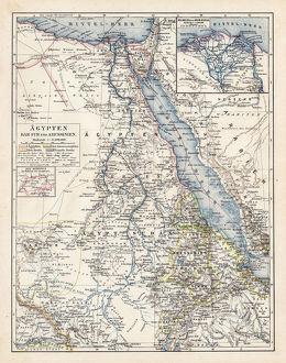 Map of Egypt and Darfur 1900