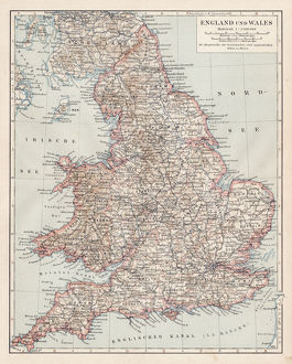 Map of England and Wales 1900