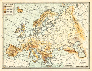 Map of Europe 1895
