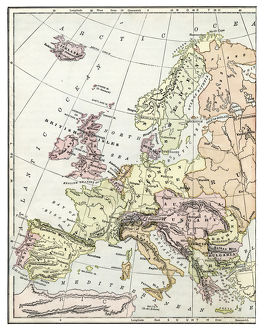 Map of Europe 1897