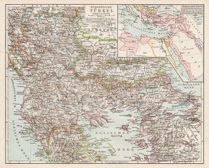 Map of european Turkey 1900