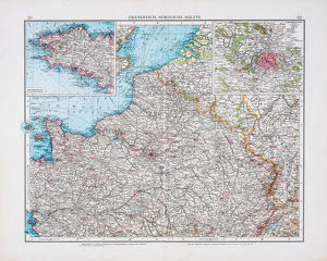 Map of France 1896