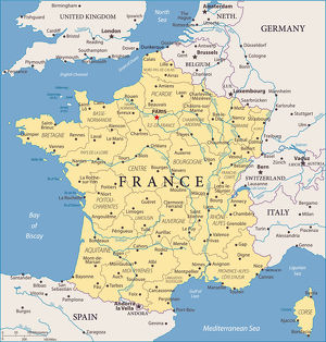Map of France - Vector