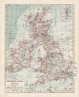 Map of Great Britain 1900
