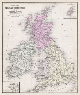 Map of Great Britain and Ireland 1877