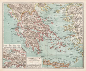 Map of Greece 1900