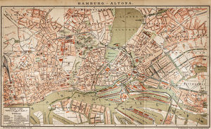 Map of Hamburg - Altona 1898