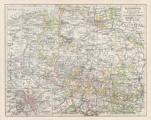 Map of Hannover 1900