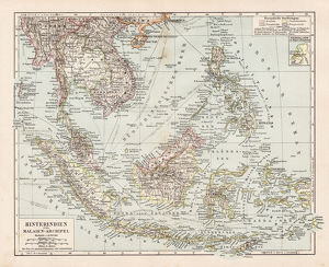 Map of Indochina 1900