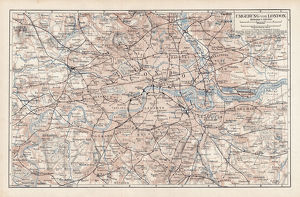 Map of London 1900