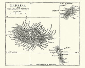 Map of Madeira, 19th Century