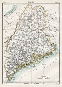 Map of Maine 1883