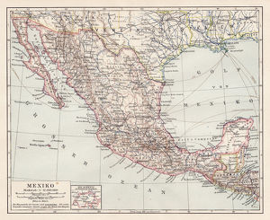 Map of Mexico and Central America 1900