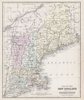 Map of New England 1877