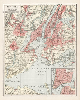 Map of New York 1900
