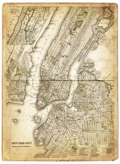 map of new york city 1874