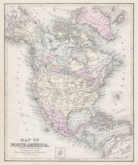 Map of North America 1877