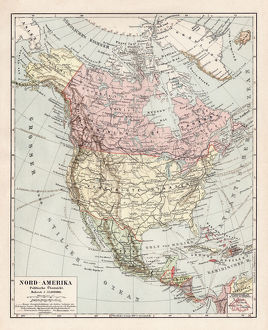 Map of North America 1900