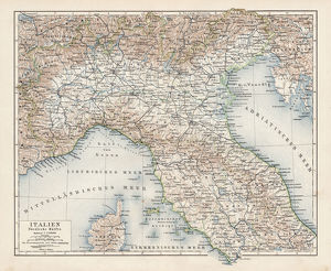 Map of North Italy 1900