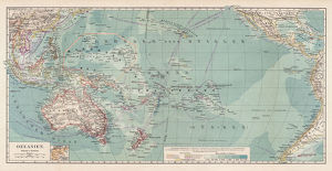 Map of Oceania 1900