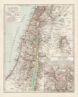 Map of Palestine 1900