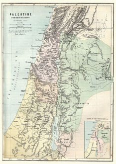 Map of Palestine in the time of Jesus Christ