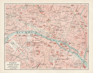 Map of Paris 1900